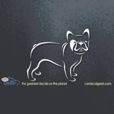 French Bulldog Car Window Vinyl Decal Sticker Dog Decals