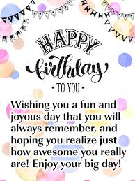 A Joyous Day Happy Birthday Card Birthday Greeting Cards By Davia Happy Birthday Quotes For Friends Happy Birthday Greetings Friends Happy Birthday Qoutes