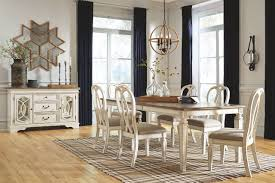 The Realyn 7 Pc Dining Room Set Rectangular Table With Leaf And 6 Ribbon Backed Side Chairs Sold At Outten Brothers Of Salisbury Serving Salisbury Maryland And Surrounding Areas