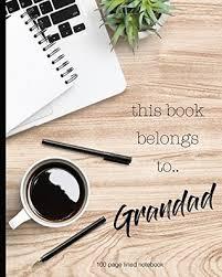 this book belongs to grandad 100 lined