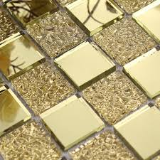 glass mirror mosaic tile sheets gold