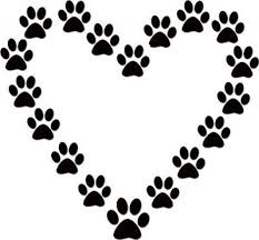 Dog Wall Decals And Quotes Paw Print Clip Art Dog Paw Print Paw Heart