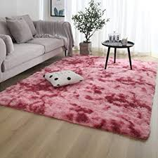 Amazon Com Satisinside Super Soft Bedroom Area Rugs With Anti Skid Back Plush And Fluffy Faux Fur Carpet For Kids And Nursery 4 Ft X 5 3 10 Ft Dark Red Baby
