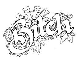 Swear Words Coloring Pages Adult Sketch Coloring Page Tattoeage