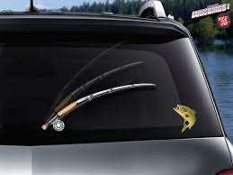Fly Fishin Wipertag With Fish Decal Attach To Rear Wiper Blade Wipertags