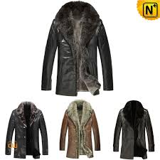 mens fur leather jacket cw141477
