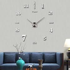 Frameless Wall Clock Large Modern 3d Mirror Wall Clock Mute Diy Wall Stickers For Living Room Bedroom Home Decoration Silver Walmart Com Walmart Com