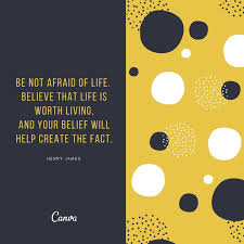 yellow and black circle pattern life quotes templates by canva