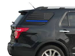 Amazon Com Thin Blue Line American Flag Decals For Ford Explorer 2011 2019 5th Generation Windows Custom Design Fe4 B A Handmade