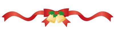 赤いクリスマスリボンのライン | 無料イラスト素材|素材ラボ
