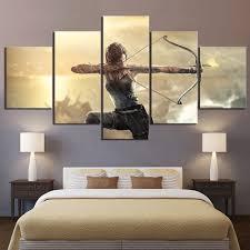 Tyg Canvas Wall Paintinggamestomb Raider Lara Croft Prints On Canvas Modern Decor Picture For Bedroom Living Room Wallcorners Art Canvas