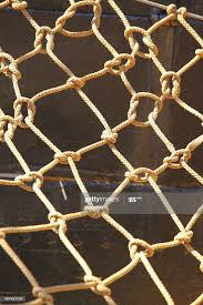 Knot Rope Netting Orange Safety Net On Ship Metal Background High Res Stock Photo Getty Images