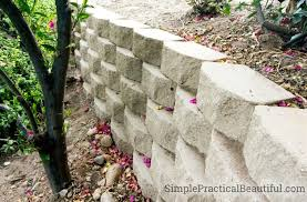 retaining wall on a slope simple