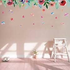 Amazon Com Bibitime Beautiful Leaves Flower Baseboard Wall Decal Borders Stickers For Living Room Tv Sofa Background Decorations Bedroom Kids Room Decor Art Mural Arts Crafts Sewing