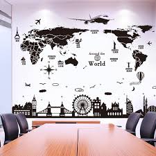 World Map Wall Stickers For House Living Room Bedroom Dorm Decoration Diy Europe Style Buildings Wall Decals Decal Wall Murals Decal Wall Quotes From Shouya2018 15 61 Dhgate Com