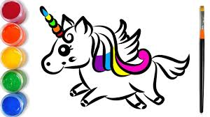 Vẽ và tô màu con kỳ lân cho trẻ em   Draw and color unicorns for kids