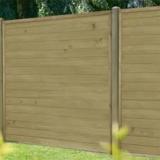 Horizontal Tongue Groove Fence Panel 6ft Pack Of 4 Homebase