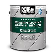 Solid Color Waterproofing Wood Stain Sealer Behr Premium Behr
