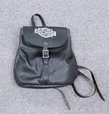 vntg harley davidson leather backpack