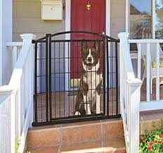 Amazon Com Carlson Pet Products 460 Outdoor Walk Thru Gate With Small Pet Door 33 25 By 29 42 Black Pet Supplies