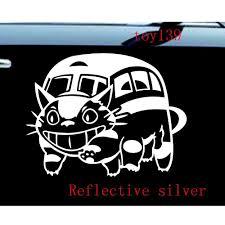 Ghibli Totoro Catbus Nekobus Car Truck Window Decal Sticker Reflective Silver Vinyl Window Decals Window Decals Totoro