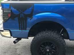 2 Skull Decal Large Truck Bed Auto Graphics Vinyl Sticker Punisher Bone Gun V3 Ebay