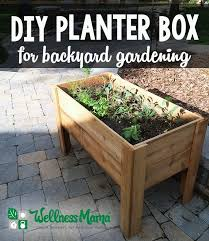 diy planter box tutorial garden boxes