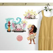 Room Mates Disney Moana And Friends Peel And Stick Wall Decal Wayfair