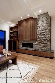 an asymmetrical fireplace wall winner