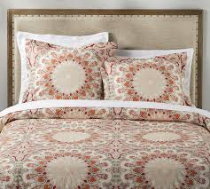 valencia percale patterned duvet cover