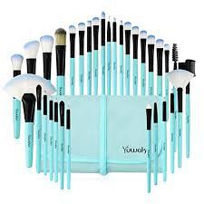 makeup brushes set 32pcs blue premium