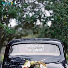 We Ve Decided On Forever Wedding Car Window Decal Wedding Reception Party Sign Welcome Removable Vinyl Stickers Ba211 Wall Stickers Aliexpress