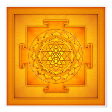 golden sri yantra posters and prints