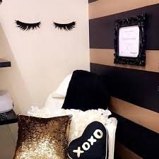 Lashes Decal Eyelashes Sticker Lash Wall Decal Beauty Sleepy Eyes Hair Salon Brows Makeup Artist Black Eyelash Masc Hair Salon Decor Fancy Bathroom Salon Decor