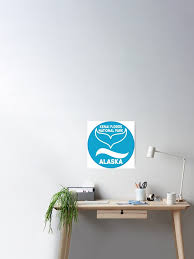 Kenai Fjords National Park Alaska Whale Travel Decal Sticker Poster By Melikeytees Redbubble