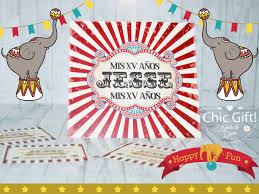 Invitaciones Xv Anos Tematicos Circo Cumpleanos Quinceanera