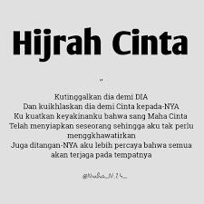 hijrah cinta kutipan bijak islamic quotes kutipan tentang