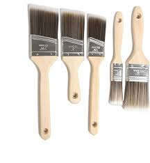 Amazon Com Paint Brushes 5 Piece Premium Paint Brush Sets With Wooden Handles Professional Paintbrush For Painting Wall Stain Enamel Latex Paint Trim Cabinets Doors Fences Decks Arts And Crafts 5 Home Kitchen