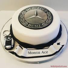Mercedes Benz Birthday Cake With Name Tortas De Autos Pastel De