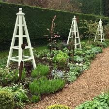 large wooden garden obelisk accoya