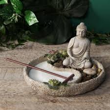 zen garden kit minature desktop sand tray