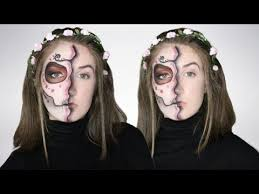 easy half face sugar skull day of the