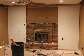 red brick fireplace remodel top brick