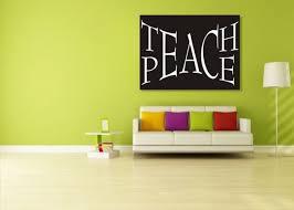 Teach Peace Canvas Print Rushordergraphics Com