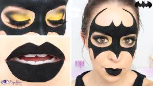 easy batman mask makeup tutorial by
