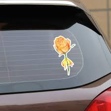Ebdecal Yellow Rose Decor For Auto Car Bumper Window Wall Decal Sticker Decals Diy Decor Ct11895 Car Stickers Aliexpress