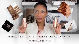 fast base make up revolution foundation