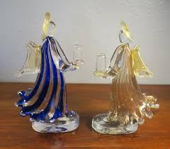 angel figurine candle holders