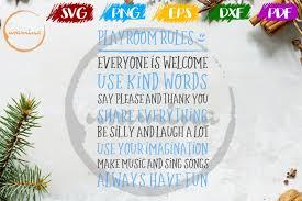 Funny Playroom Rules Kids Room Sign Svg Cut File Pdf Png 169040 Svgs Design Bundles
