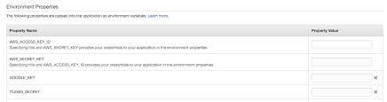 environment variables on elastic